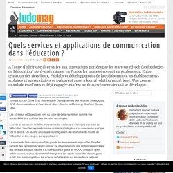 Quels services et applications de communication dans l'éducation ?