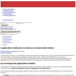 Les applications mobiles sont à la mode en communication interne !