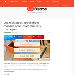 Applications mobiles pour les community managers