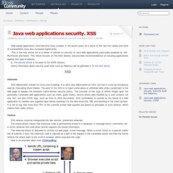 Java web applications security. XSS