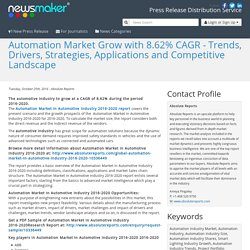 Automation Market Grow with 8.62% CAGR - Trends, Drivers, Strategies, Applications and Competitive Landscape