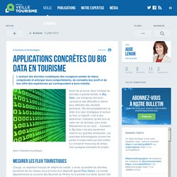 » Applications concrètes du Big Data en tourisme