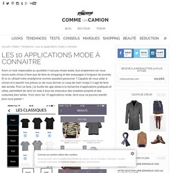 Les 10 applications mode à connaitre sur mobile