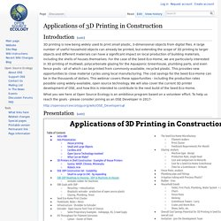 Applications of 3D Printing in Construction