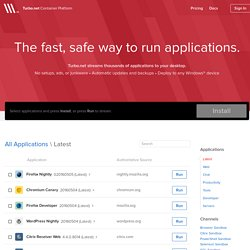 The fast, safe way to run applications - Turbo.net™ Container Platform