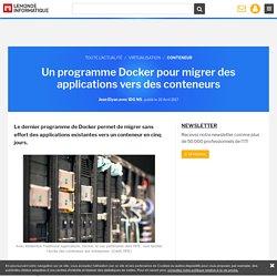 Un programme Docker pour migrer des applications vers des conteneurs