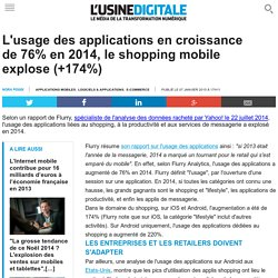 L'usage des applications en croissance de 76% en 2014, le shopping mobile explose (+174%)