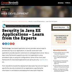 Security in Java EE Applications – Learn from the Experts - CrowdReviews.com Blog