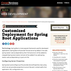 Customized Deployment for Spring Boot Applications - CrowdReviews.com Blog