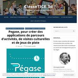 Pegase, pour créer des applications de parcours d'activités, de visites culturelles et de jeux de piste