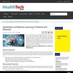 Applications of Machine Learning in Pharma and Medicine - Medical DatabaseMedical Database