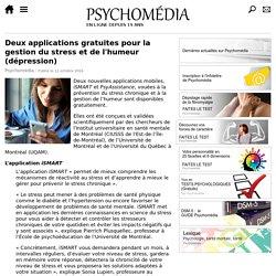 Deux applications gratuites pour la gestion du stress et de l'humeur (dépression)