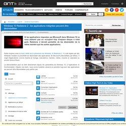 Windows 10 Redstone 2 : les applications intégrées peuvent être désinstallées