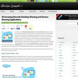 30 Amazing Remote Desktop Sharing and Screen Sharing Applications