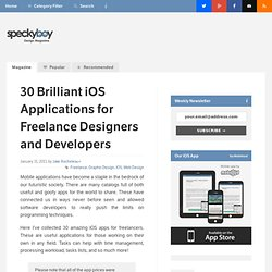 30 Brilliant iOS Applications for Freelance Designers and Developers