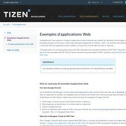 Exemples d'applications Web