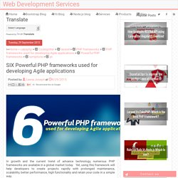 SIX Powerful PHP frameworks used for developing Agile applications