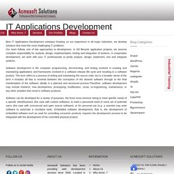 Best IT Applications Development company