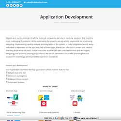 Top Software & Web Applications Development Company India