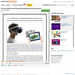 The Best Unity3d Game & Virtual Reality Applications Development S..