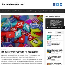 The Django Framework and Its Applications - Python Development