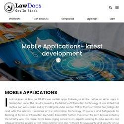 Mobile Applications- latest development - Lawdocs.in