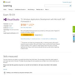 TS: Windows Applications Development with Microsoft .NET Framework 4