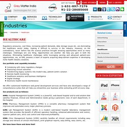 Healthcare Websites and Web Applications portals design development - GMI