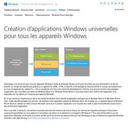 Applications universelles - Développement d'applications Windows