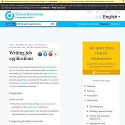 Writing job applications