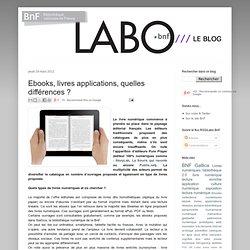 Ebooks, livres applications, quelles différences ?