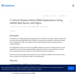 How to Deploy Python WSGI Applications Using uWSGI Web Server with Nginx