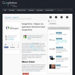 Google Drive : Intégrez vos applications directement dans Google Drive