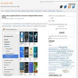 Liste des applications chrome disponibles hors ligne