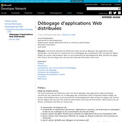Débogage d'applications Web distribuées