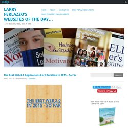 The Best Web 2.0 Applications For Education In 2015 – So Far