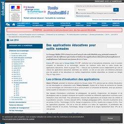 Des applications éducatives pour outils nomades — Enseigner avec le numérique