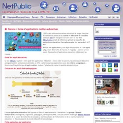 NetPublic » Edululu : Guide d'applications mobiles éducatives