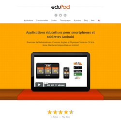 Applications éducatives pour smartphones et tablettes Android - eduPadeduPad