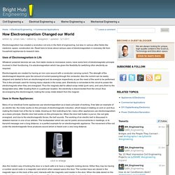 Uses or Simple Applications of Electromagnetism in Technology and Life