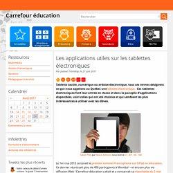 Les applications utiles sur les tablettes électroniques