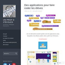 Des applications pour faire coder les élèves