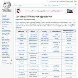 List of free software web applications