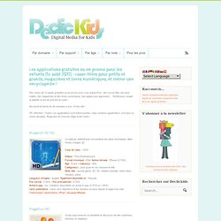 Les applications gratuites ou en promo pour les enfants (16 août 2012) : casse-têtes pour petits et grands, magazines et livres numériques, et même une encyclopédie !