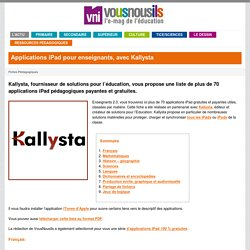 Kallysta Applications iPad