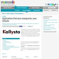 Applications iPad pour enseignants, avec Kallysta