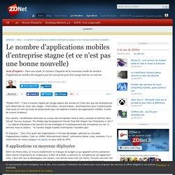 Le nombre d'applications mobiles d'entreprise stagne (et ce n'est pas une bonne nouvelle) - ZDNet