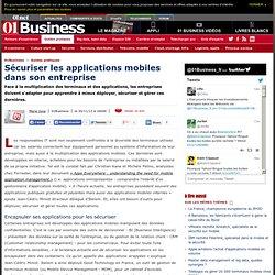 Sécuriser les applications mobiles dans son entreprise via