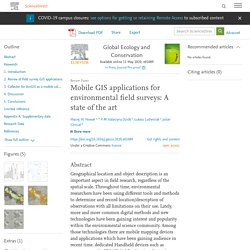 Global Ecology and Conservation Available online 11 May 2020, Mobile GIS applications for environmental field surveys: A state of the art