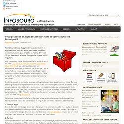 Infobourg - 10 applications en ligne essentielles dans le coffre à outils de l'enseignant